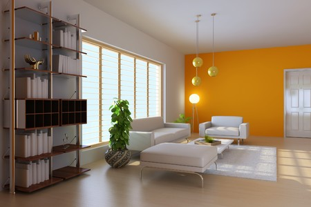 7351920 - 3d render interior of modern living room